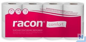 Toilettenpapier racon comfort 2lg. Tissue hochweiß 400Blatt (9,5x11,2cm), 48 Rollen/Pack