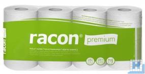 Toilettenpapier Recycling 3lg. racon premium, weiß, 250 Blatt, VE: 56 Rollen