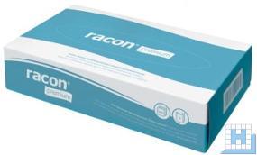 Kosmetiktuch racon PREMIUM, 2lg, hochweiß, 20x19,5cm, 100Tücher/Box, VE: 35 Box/Krt.