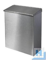 racon X trash Abfallbehälter, Edelstahl gebürstet, H:280xB:290xT:101mm