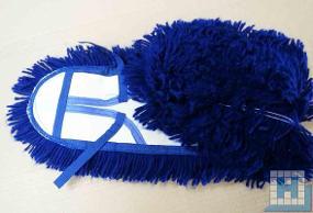 Acryl-Mop blau 60 cm mit Taschen