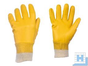 Strickbund Handschuhe Gr 10, Nitrilbeschichtet gelb (12Paar/Pack)