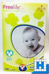Babywindeln bébé cash Freelife (3) Midi 4-9kg, (2x54Stck/Karton)