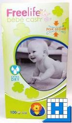 Babywindeln bébé cash Freelife (4) Maxi 7-18kg (2x50 Stck/Karton)