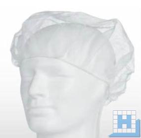 PP-Baretthauben weiß, Gr. M 52cm (100St/Pack)