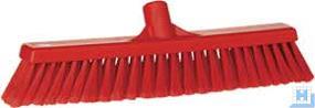 Besen weich, rot, 420 mm, geschlitzt