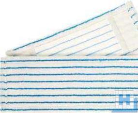 Mikro Borstenmop 50cm, weiß/blau