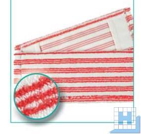 Mikro Borstenmopp 40cm rot/weiß, Sani Correct