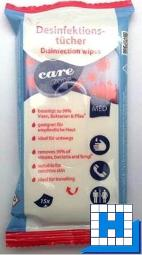 Care Zone Desinfektionstücher, Flowpack mit 15 Tüchern, VE:15Pack