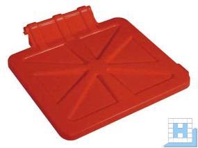 Deckel für X-Wagen 1x120 L rot