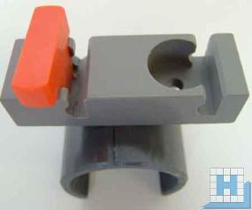 Strato-Drehverschlußclip, einfach, für Alu-Rohr