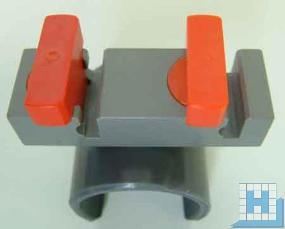 Strato-Drehverschlußclip, zweifach, für Alu-Rohr