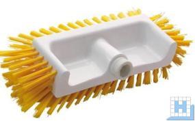 Eckenschrubb.Borstenfl. unten,vorn,seitlich, PBT gelb Ø 0,50mm mittel, 320x125x40-50mm
