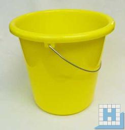 Haushalts-Eimer gelb 10 L, Ø28,5cm H=27,5cm Metallbügel