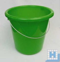 Haushalts-Eimer grün 10 L, Ø28,5cm H=27,5cm Metallbügel