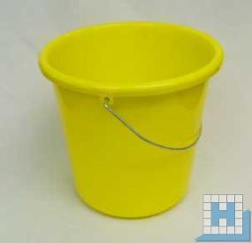 Haushalts-Eimer gelb 5 L, Ø22,5cm H=21,5cm Metallbügel