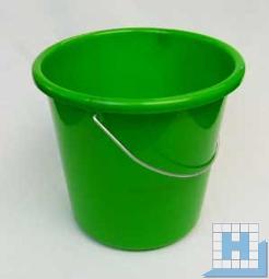 Haushalts-Eimer grün 5 L, Ø22,5cm H=21,5cm Metallbügel