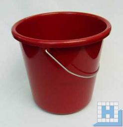 Haushalts-Eimer rot 5 L, Ø22,5cm H=21,5cm Metallbügel