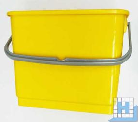 Eimer 6L, gelb, rechteckig (L22,5xT17,5xH22cm)