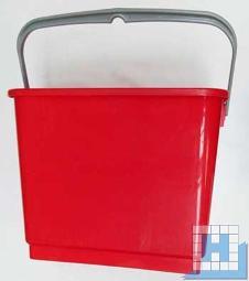 Eimer 6L rot, rechteckig (L22,5xT17,5xH22cm)
