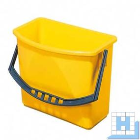 Kunststoffeimer, 6 L gelb, (H22xL27,5/23,5x17/10,5cm)