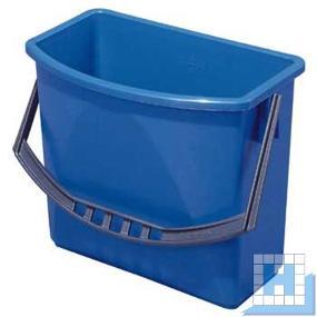 Kunststoffeimer, 6 L blau, (H22xL27,5/23,5x17/10,5cm)