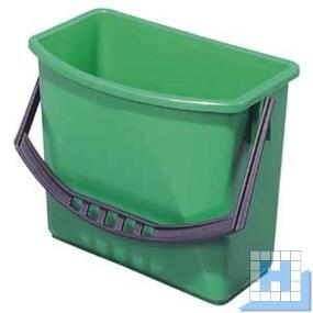 Kunststoffeimer, 6L grün, (H22xL27,5/23,5x17/10,5cm)