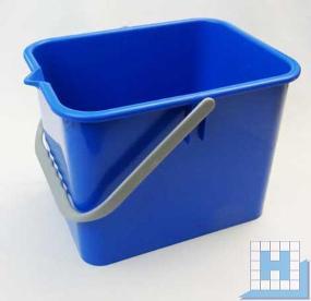 Eimer 9 L, blau, rechteckig