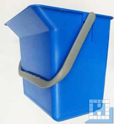 Eimer 6L mit Tülle blau rechteckig (L22xT15xH22cm)