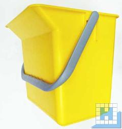 Eimer 6L mit Tülle gelb rechteckig (L22xT15xH22cm)