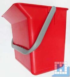 Eimer 6L mit Tülle rot rechteckig (L22xT15xH22cm)