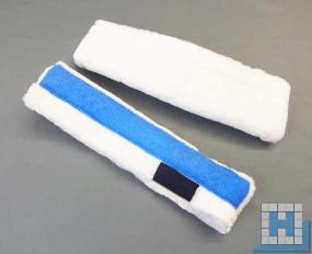 Einwasch-Bezug mit Pad Strip 25 cm Klettverschluss