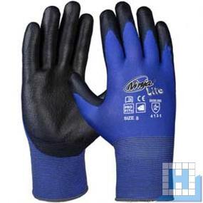 Ninja Lite Soft-PU-Handschuh blau/schwarz Gr. 10 (12Paar/Pck)