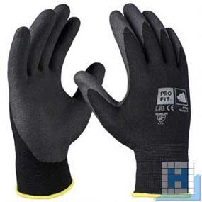 Feinstrickhandschuh HPT-Polymer Gr.10 schwarz/schwarz (12Paar/Pack)