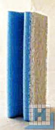 Vliesschwamm blau/Pad weiß 150x70x45mm mit Griffleiste