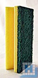 Vliesschwamm gelb/Pad grün 150x70x45mm mit Griffleiste