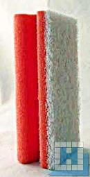 Vliesschwamm rot /Pad weiß 150x70x45mm mit Griffleiste
