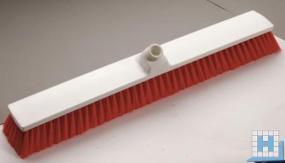 Großraumbesen PBT rot ungeschlitzt, Ø 0,25mm weich, 600x72x50mm