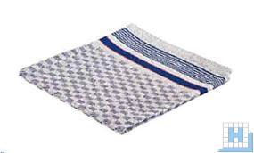 Gruben-Handtuch, blau/weiß, 45x90 cm, 10Stck/Pack
