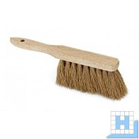 Industriehandfeger Poly-Kokos 28 cm Holz