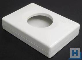 PE-Halterung für Hygienebag weiß, H:138xB:98xT:22mm