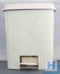 Hygiene-Treteimer weiß 4,5 L Kunststoff H=27cm (Einsatz 22,5x22,5x27cm)