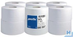 Toilettenpapier Mini-Jumbo, 2lg. 180m, hochweiß, VE: 12Roll/Pack