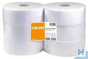 Toilettenpapier Jumbo, 2lg., 9,7cmx380m, hochweiß Zellstoff, VE: 6 Roll/Pack, (D26/6cm)