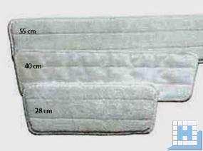 Klett-Mop weiß Mikrofaser 45x9 cm