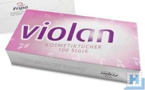 Kosmetiktücher akito (Violan) 2lg. hw. 21x20cm, 40x100Stk/Krt. 100% Zellstoff