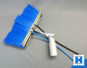 Strato-Lamellenbürste, 11 cm, blau, Carbon, kpl. mit Kopfstück