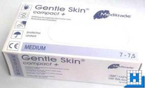 Einweghandschuh Gr. M, Latex gentle skin compact+,puderfrei 100 St/Box