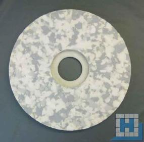 Melamin Plus-Pad für Scheuermaschinen, grau/weiß, Ø406mm (16