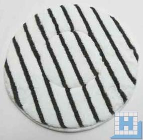 Mikrofaser-Pad Ø 406(410)mm weiß/Streifen grau